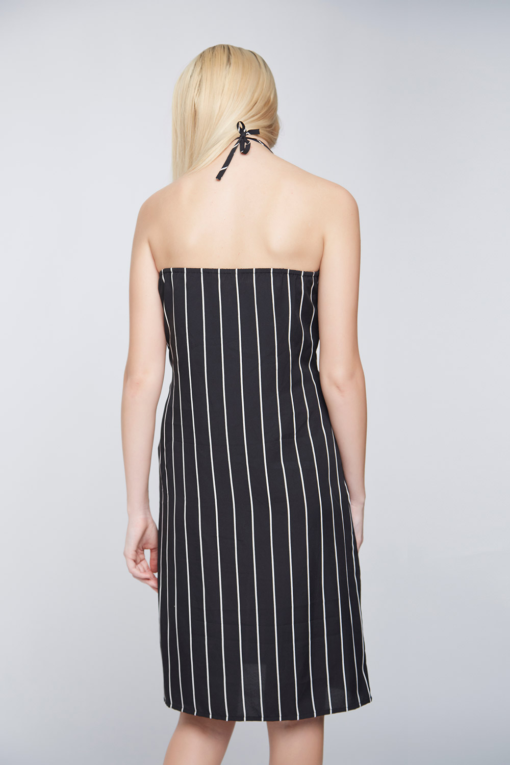 Black White Stripes Ramona Dress -3