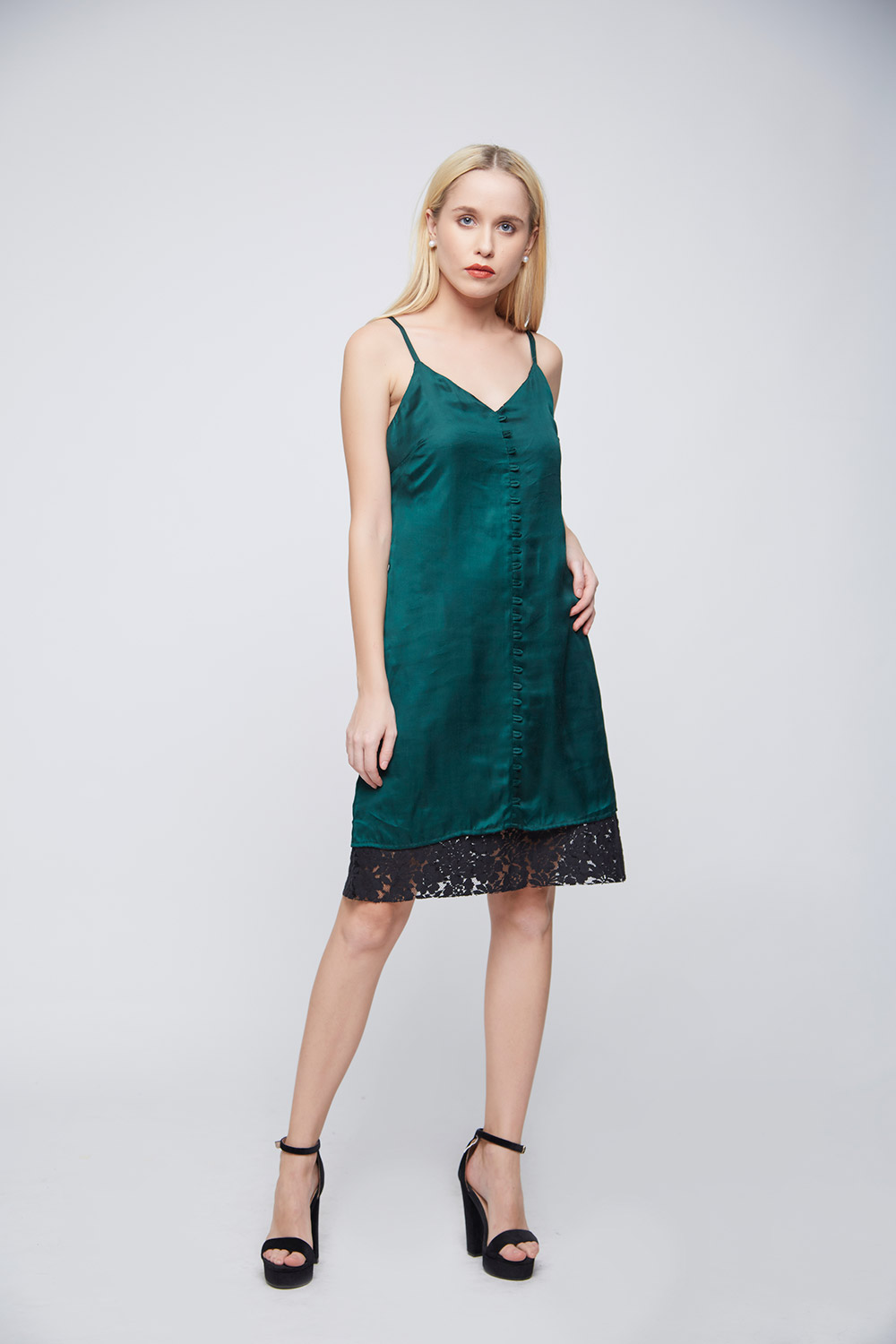 Green Loop Dress -0