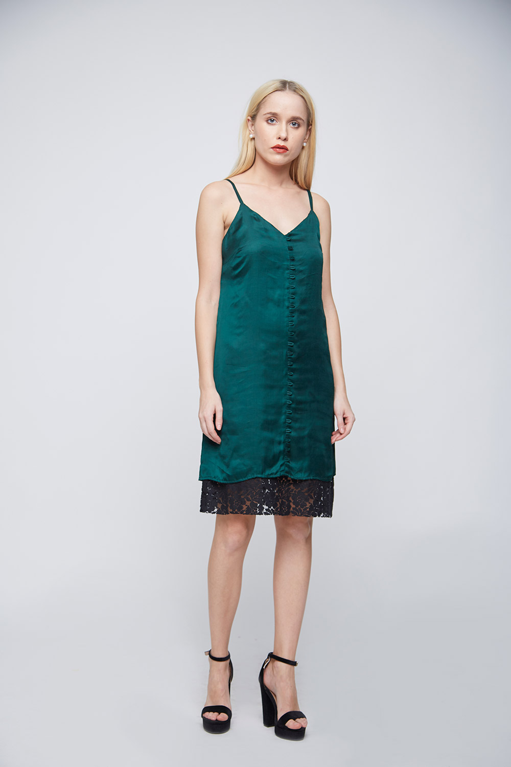 Green Loop Dress -1