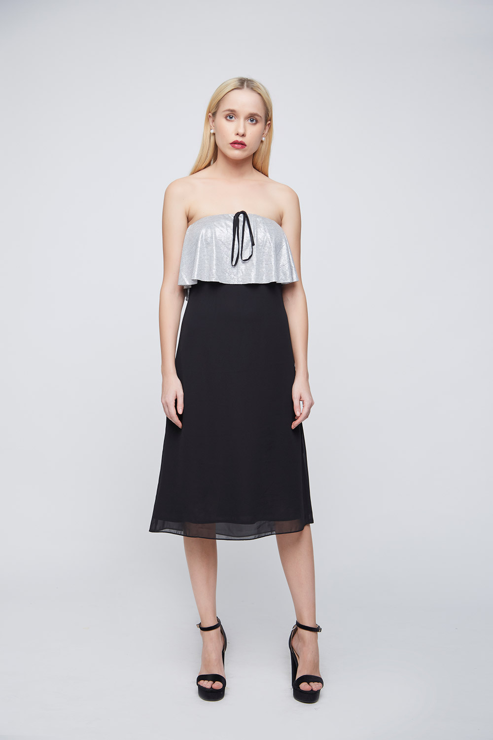 Off-Shoulder String Dress -0