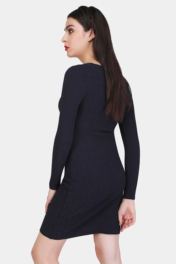 Bodycon Blue Dress - Back