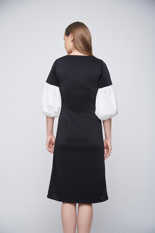 Ivory Baloon Sleeve Dress -3