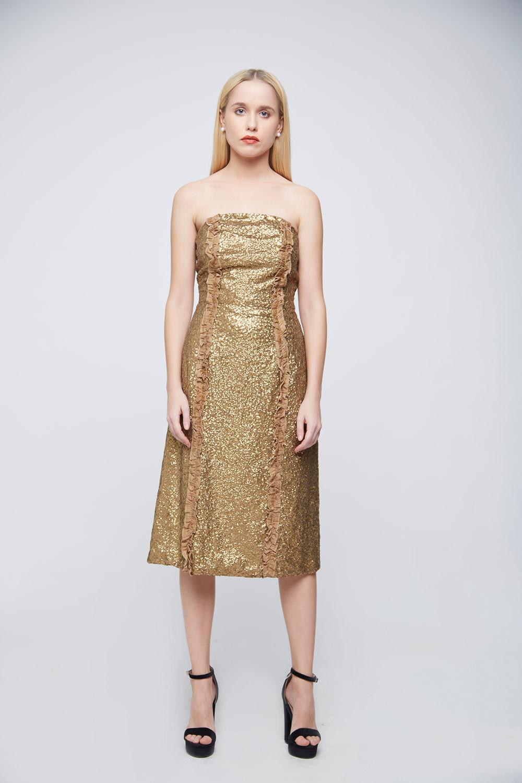 Golden Sequin Dress -1