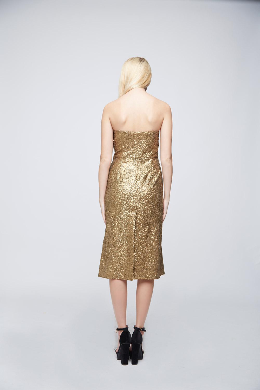 Golden Sequin Dress -2
