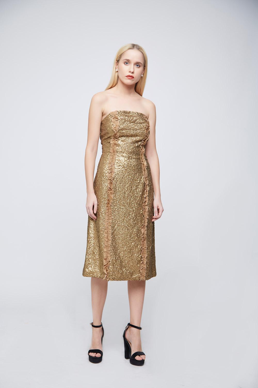 Golden Sequin Dress -3