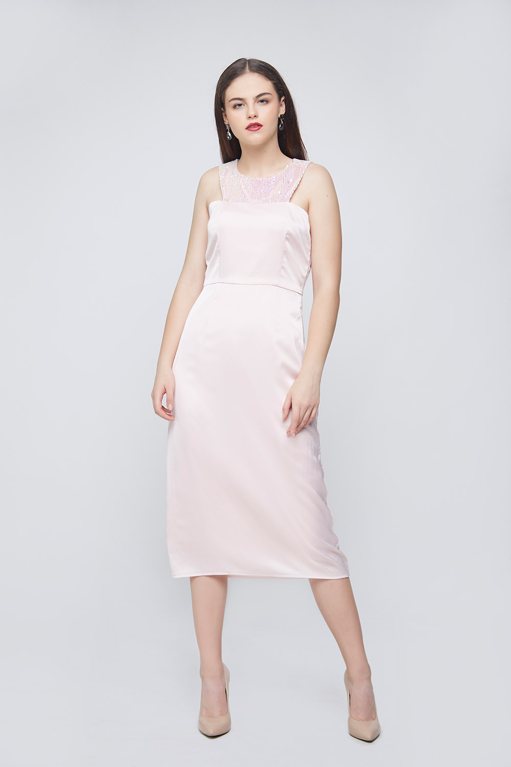 Unicorn Waist Pleated Dress -0