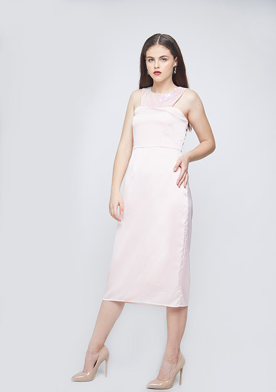 Unicorn Waist Pleated Dress - Back
