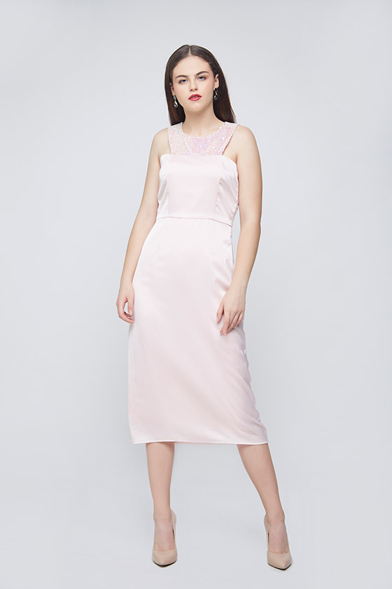 Unicorn Waist Pleated Dress - Front