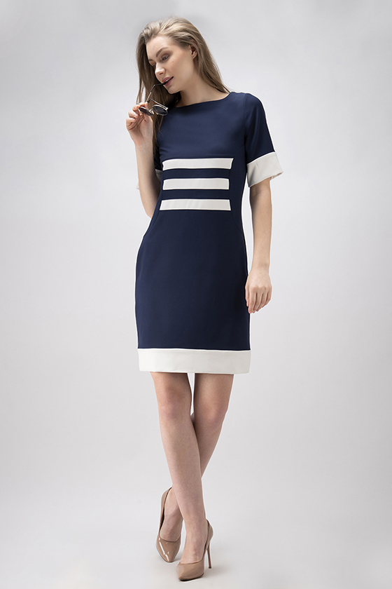 White Band Dress - Front