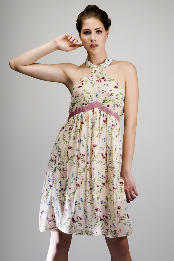 Grecian Day Dress - Front