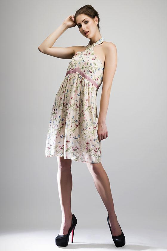 Grecian Day Dress - Back