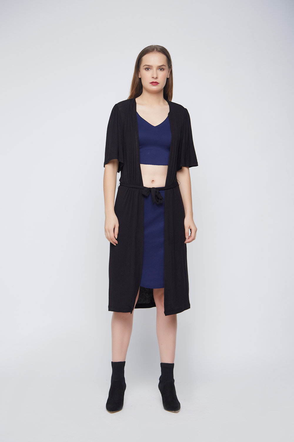 Black Casual Outerwear -1