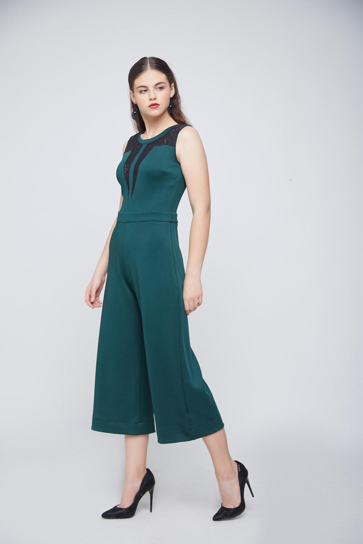 Green Lace Jumpsuit -1