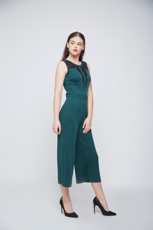 Green Lace Jumpsuit -0