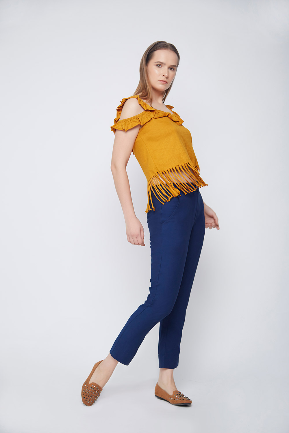 Casual Fringes Top -0