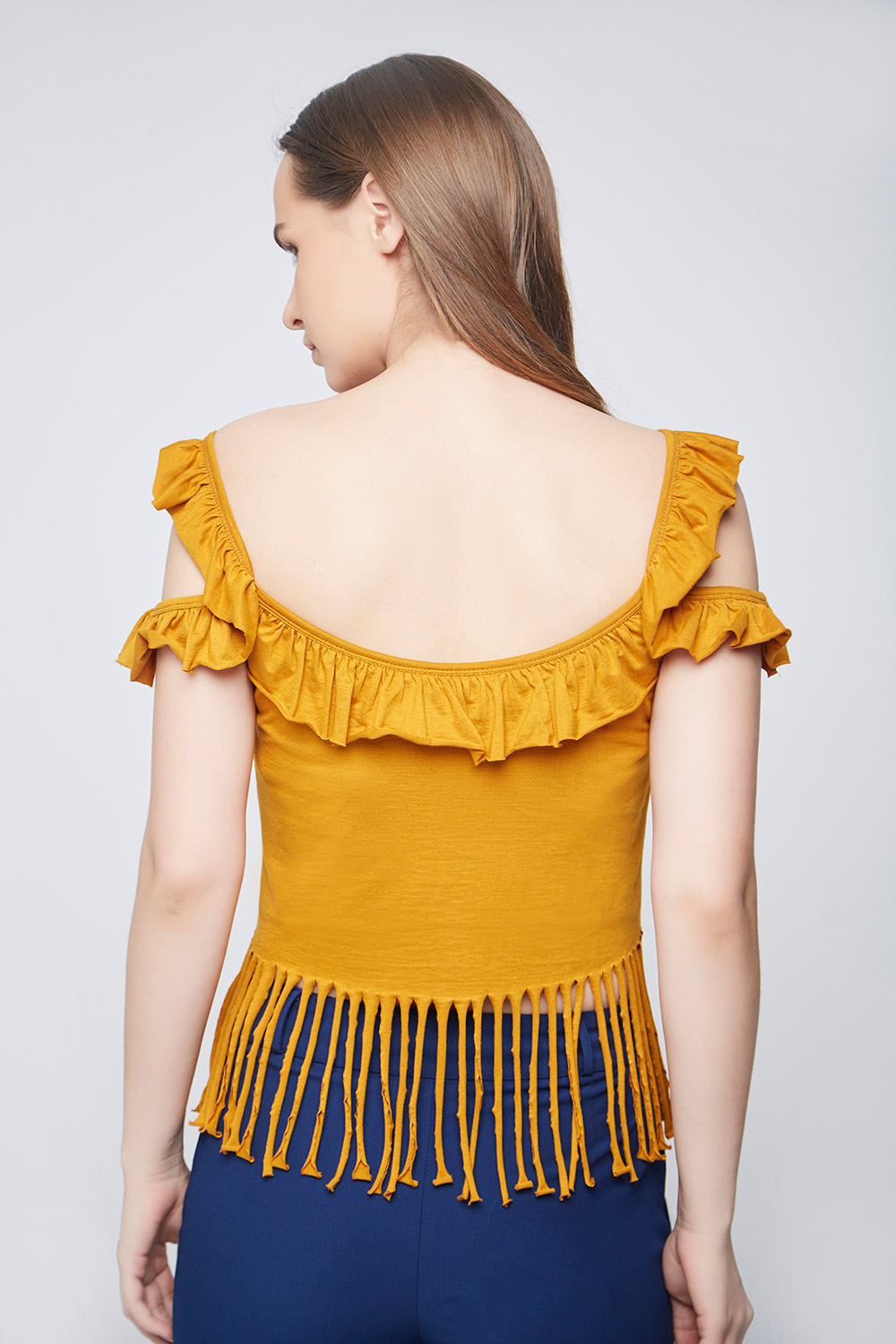 Casual Fringes Top -1