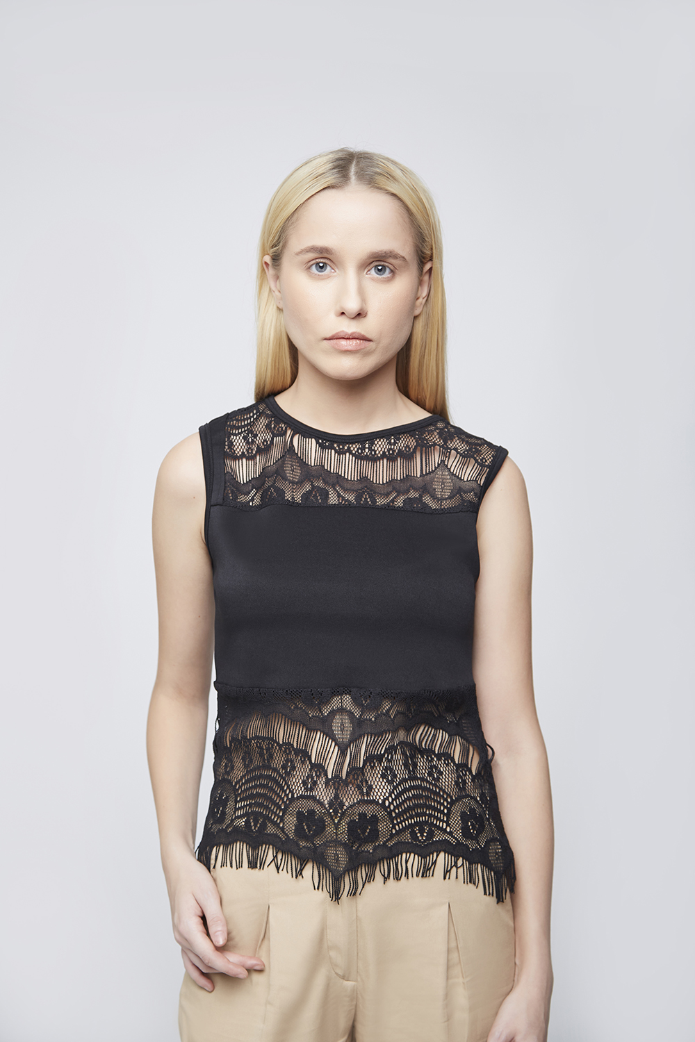 Black Lace Top - Main