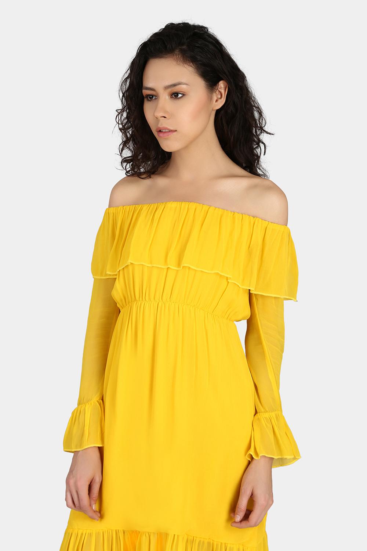 Off-Shoulder Casual Dress -3