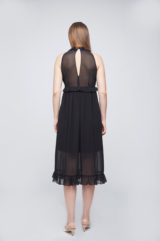 Black Pleated Dress -1