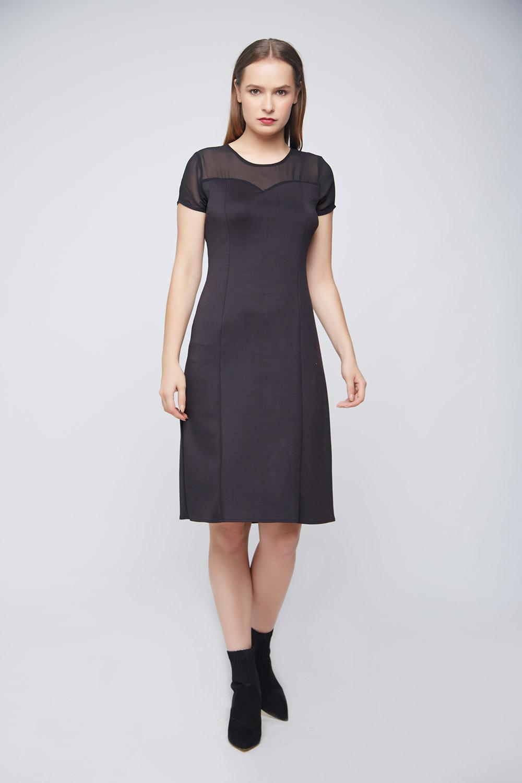 Black Punto Dress -2