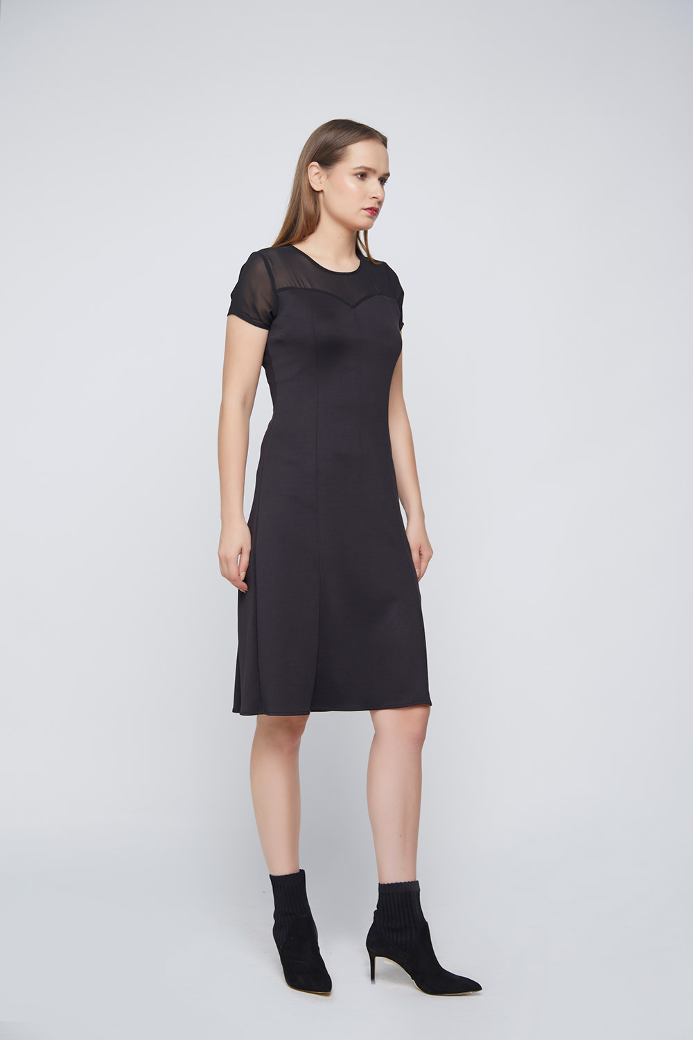 Black Punto Dress - Main