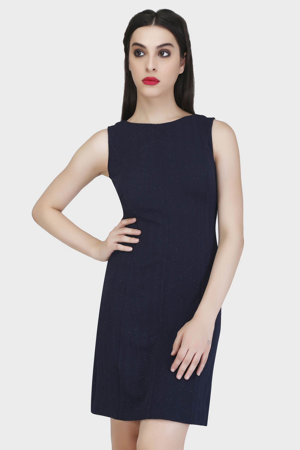 Panel Sheath Dress -0