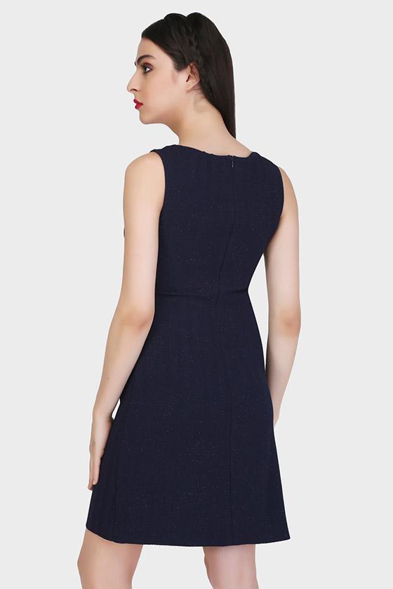 Panel Sheath Dress - Back