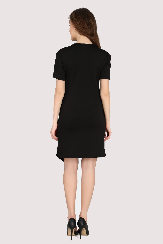 Black Asymmetric Dress -1