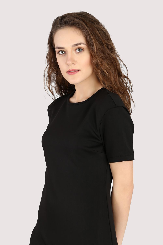 Black Asymmetric Dress -3