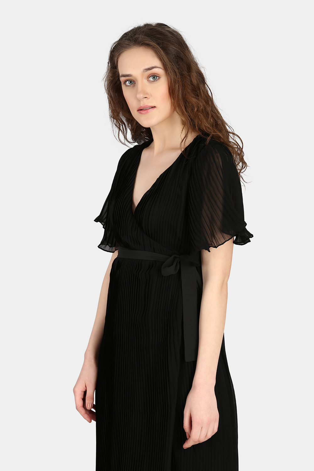 Over Lapping Pleated Dress -3