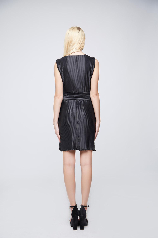 Pleated Black Dress -3