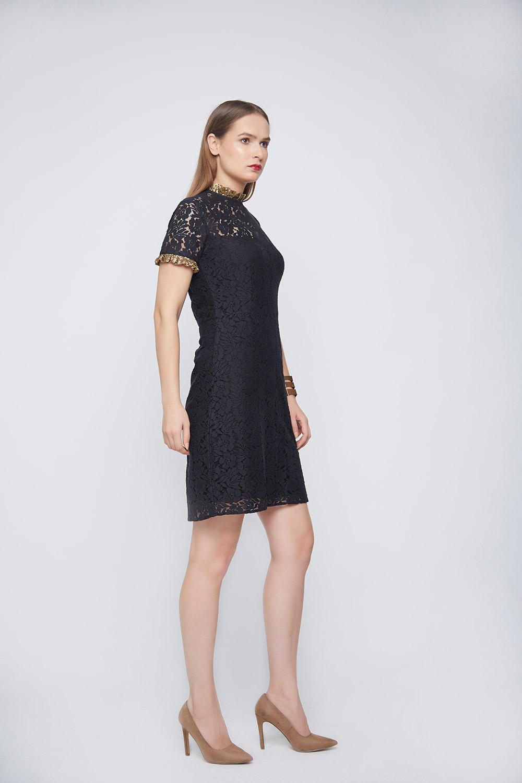 Black Lace Dress -0