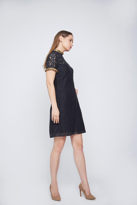 Black Lace Dress -2