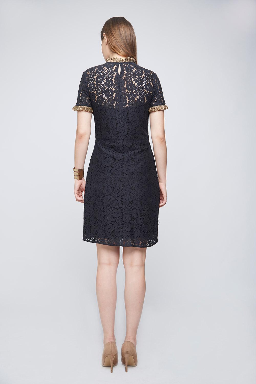 Black Lace Dress -3