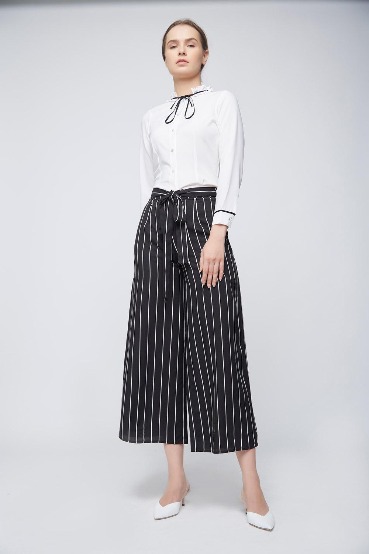 Black White Culottes -0