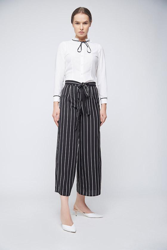 Black White Culottes - Front
