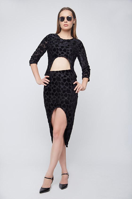Black Braso Skirt - Front