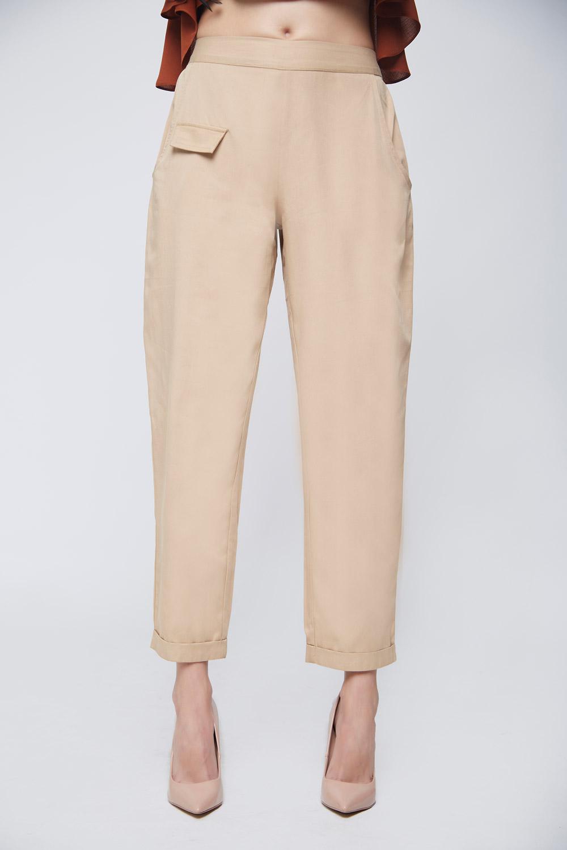 Beige Twill Trouser -2