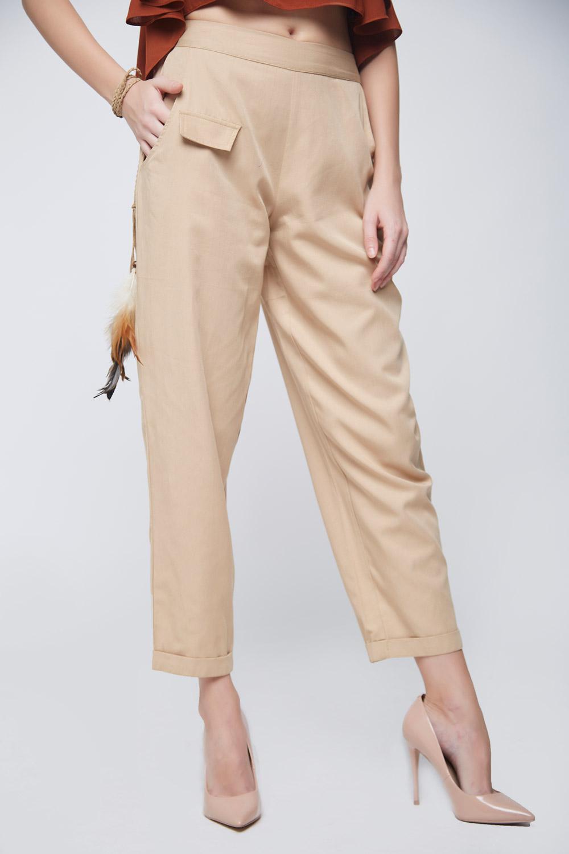 Beige Twill Trouser -1