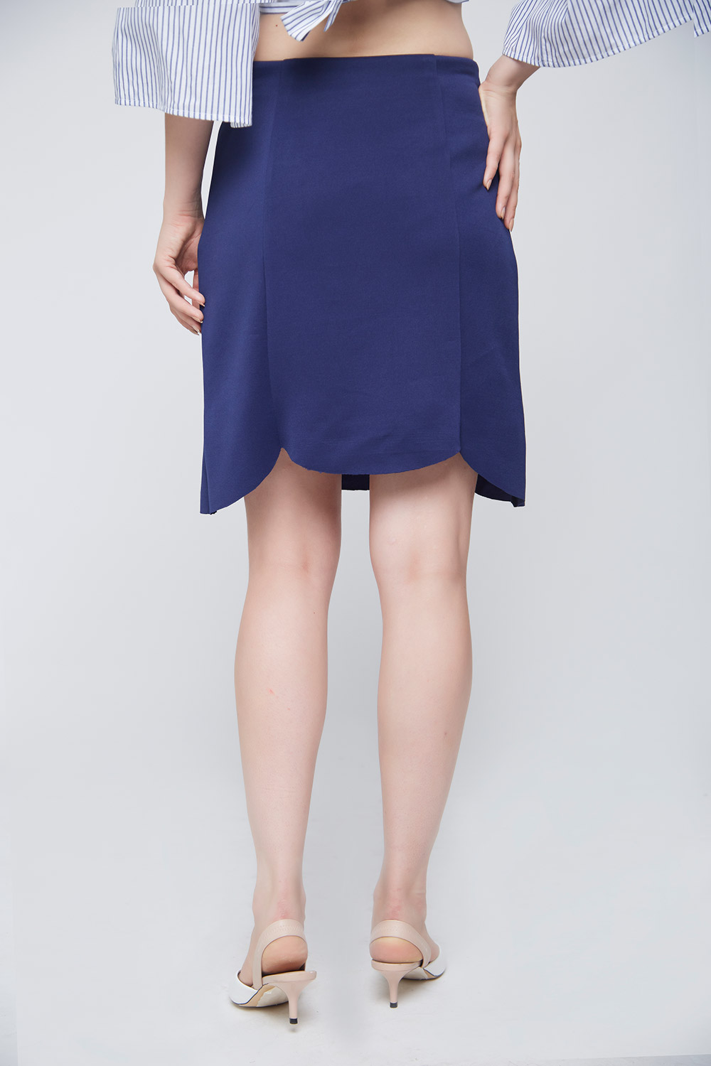 Blue Scalloped Skirt -2