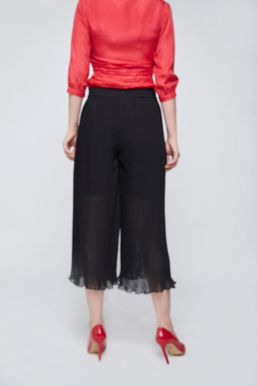 black pleated culottes -3