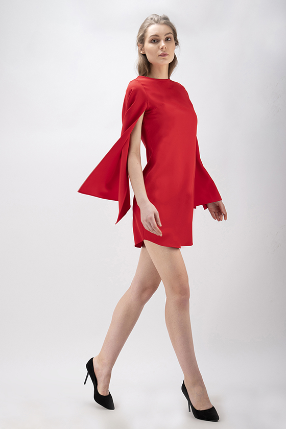 Christmas Red Party Dress - Front