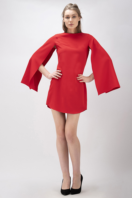 Christmas Red Party Dress - Back